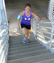 Amy Van Cleve Elite Training Stair Climbing Workout