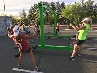 Training outdoors in Arizona